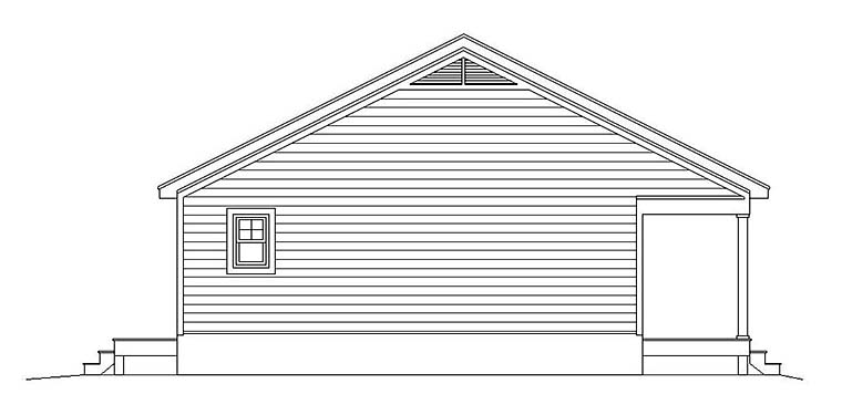 Cabin, Country, Southern, Traditional House Plan 51640 with 1 Beds, 1 Baths Picture 2