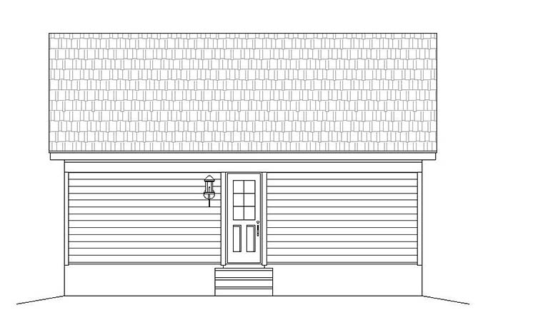 Cabin, Country, Southern, Traditional House Plan 51640 with 1 Beds, 1 Baths Rear Elevation