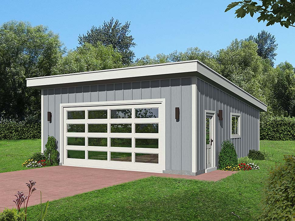 Contemporary 2 Car Garage Plan 51641 Elevation