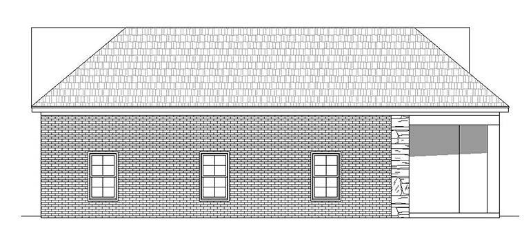Traditional 6 Car Garage Plan 51651, RV Storage Picture 2