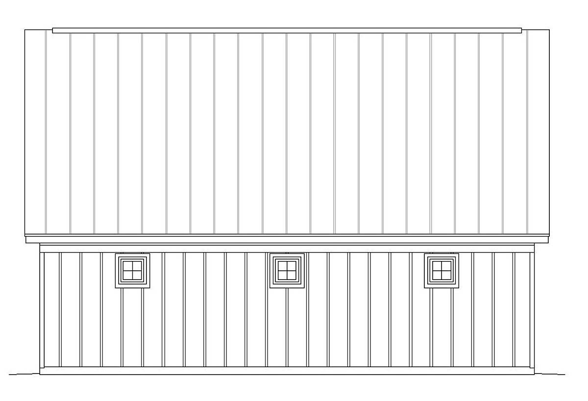 Bungalow, Country, Craftsman, Traditional 2 Car Garage Apartment Plan 51667 with 1 Beds, 1 Baths Picture 1