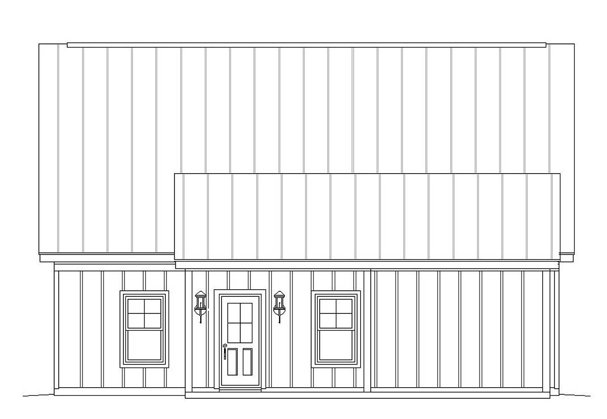 Bungalow, Country, Craftsman, Traditional 2 Car Garage Apartment Plan 51667 with 1 Beds, 1 Baths Picture 2