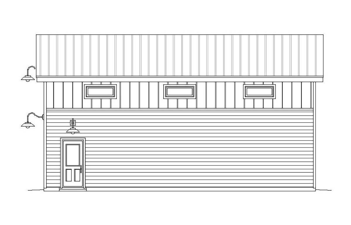 Cape Cod, Contemporary, Saltbox, Traditional 4 Car Garage Plan 51671, RV Storage Picture 1