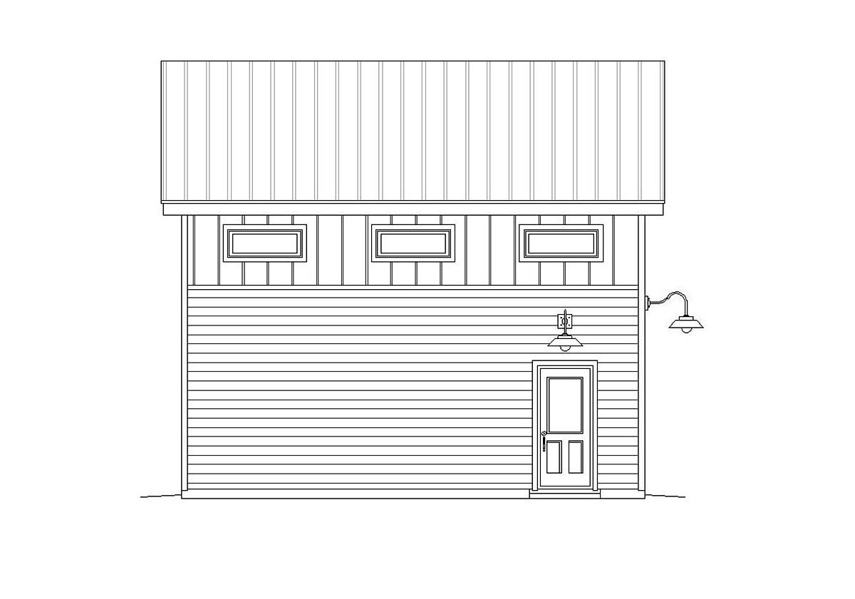 Cape Cod, Coastal, Contemporary, Modern, Saltbox 2 Car Garage Plan 51675 Picture 2