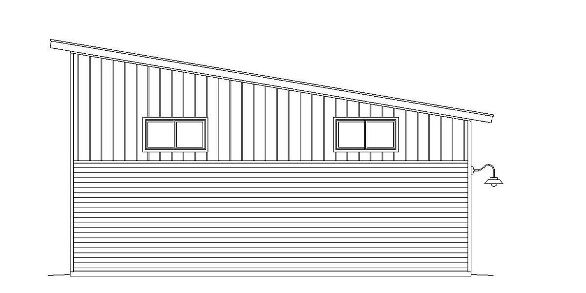 Cape Cod, Coastal, Contemporary, Modern, Saltbox 2 Car Garage Plan 51675 Rear Elevation