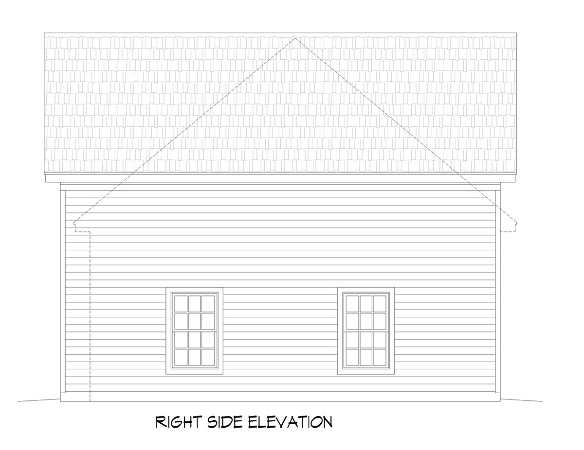Ranch, Traditional 3 Car Garage Plan 51677, RV Storage Picture 1