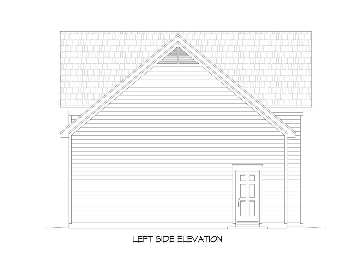 Ranch, Traditional 3 Car Garage Plan 51677, RV Storage Picture 2