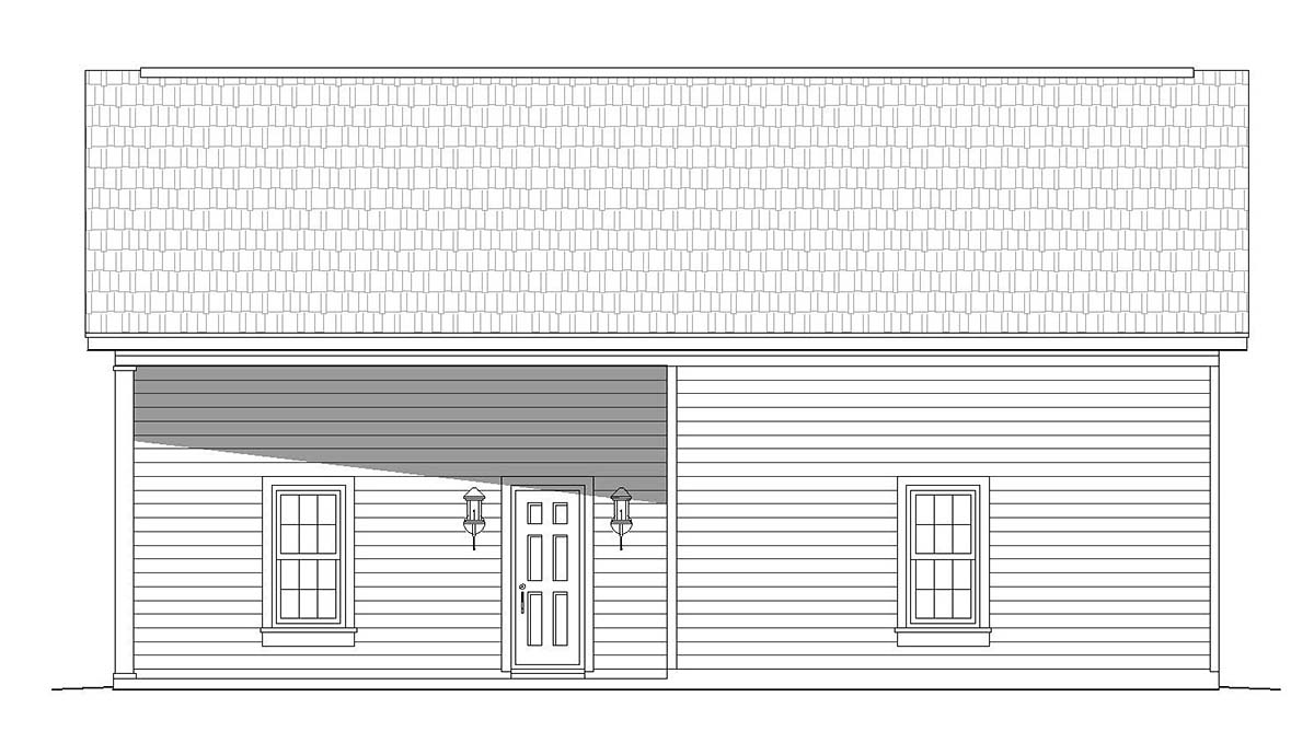 Cape Cod, Coastal, Colonial, Country, Farmhouse, Ranch, Saltbox, Traditional 4 Car Garage Plan 51681 Picture 1