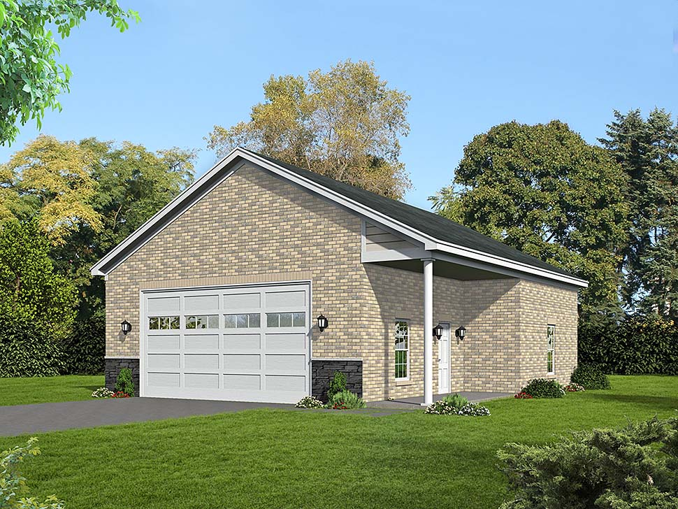 Colonial, European, Ranch, Traditional 2 Car Garage Plan 51683 Front Elevation