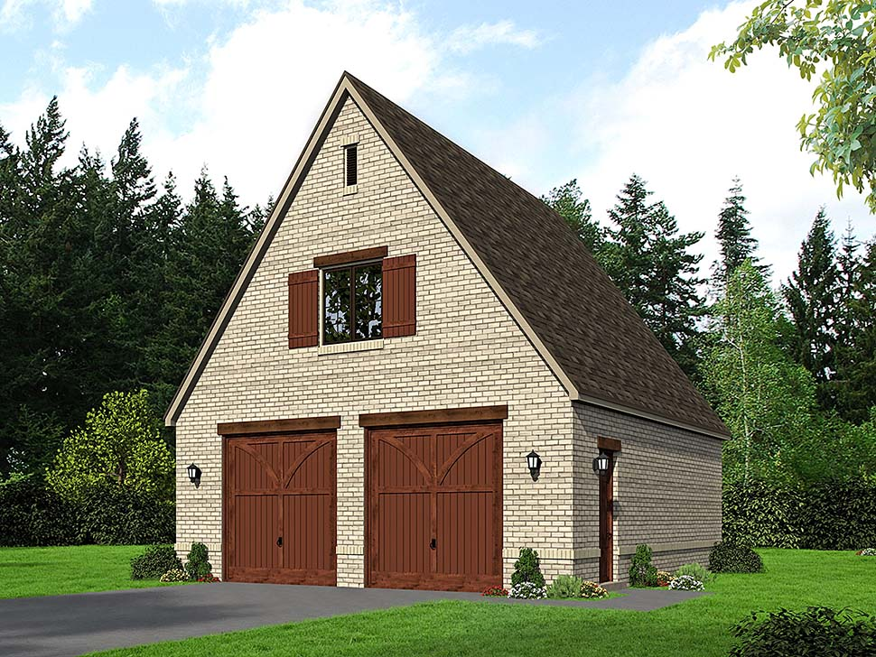 European, French Country, Traditional 2 Car Garage Plan 51684 Front Elevation