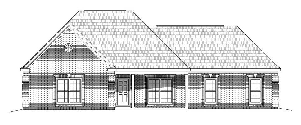 Country, Ranch, Traditional House Plan 51685 with 3 Beds, 3 Baths, 2 Car Garage Picture 3