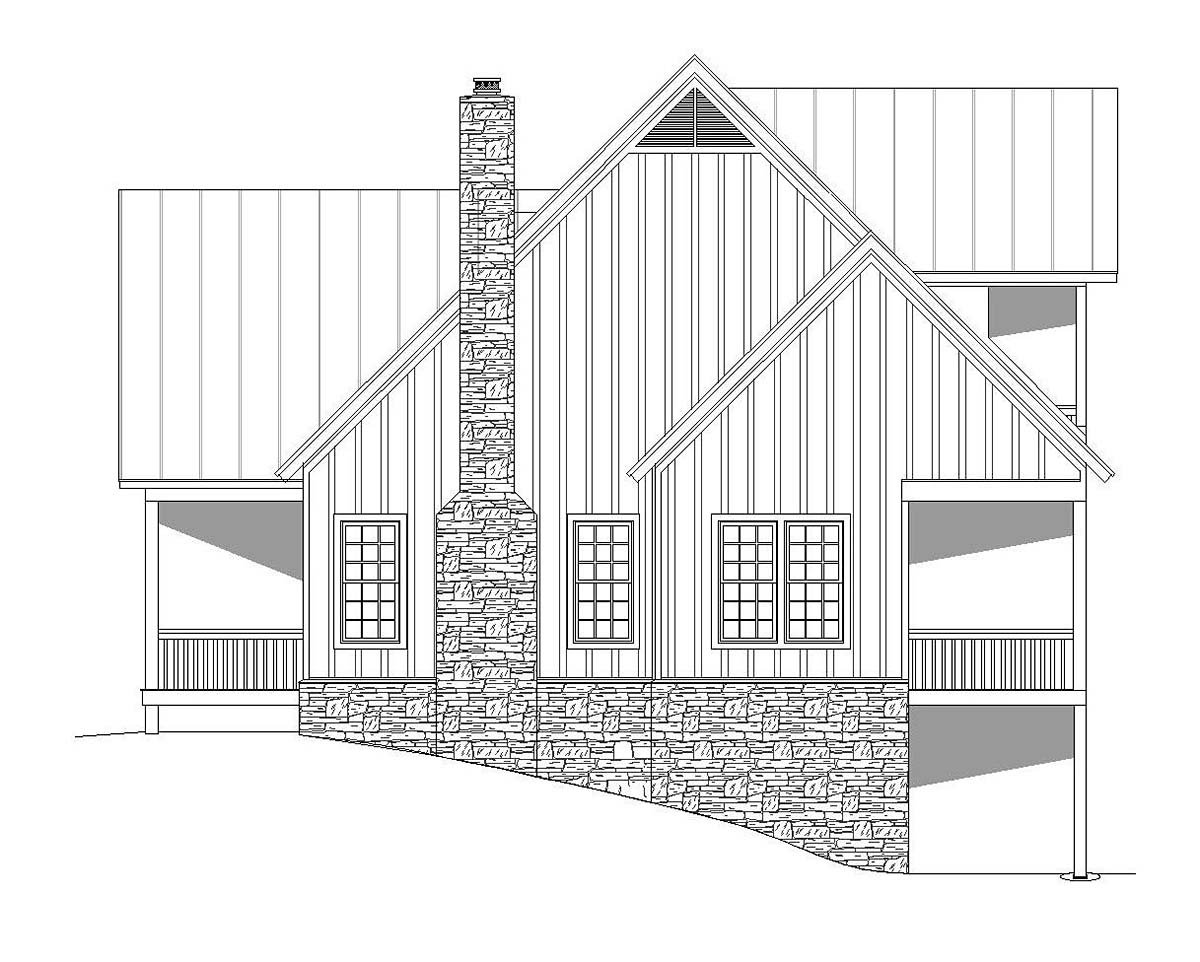 Bungalow, Cottage, Country, Craftsman, Farmhouse, Log, Tudor House Plan 51689 with 3 Beds, 4 Baths Picture 1