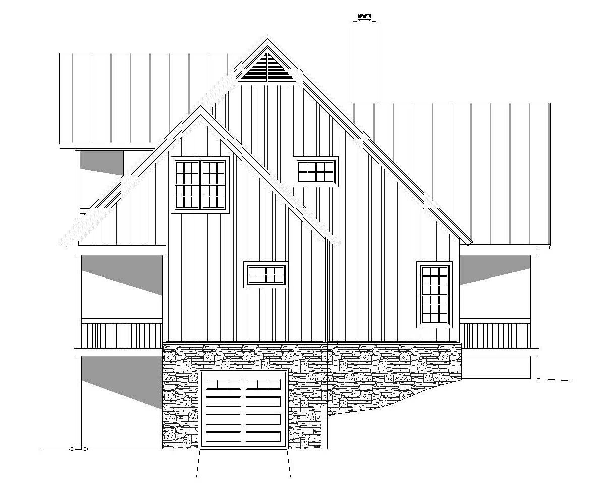 Bungalow, Cottage, Country, Craftsman, Farmhouse, Log, Tudor House Plan 51689 with 3 Beds, 4 Baths Picture 2