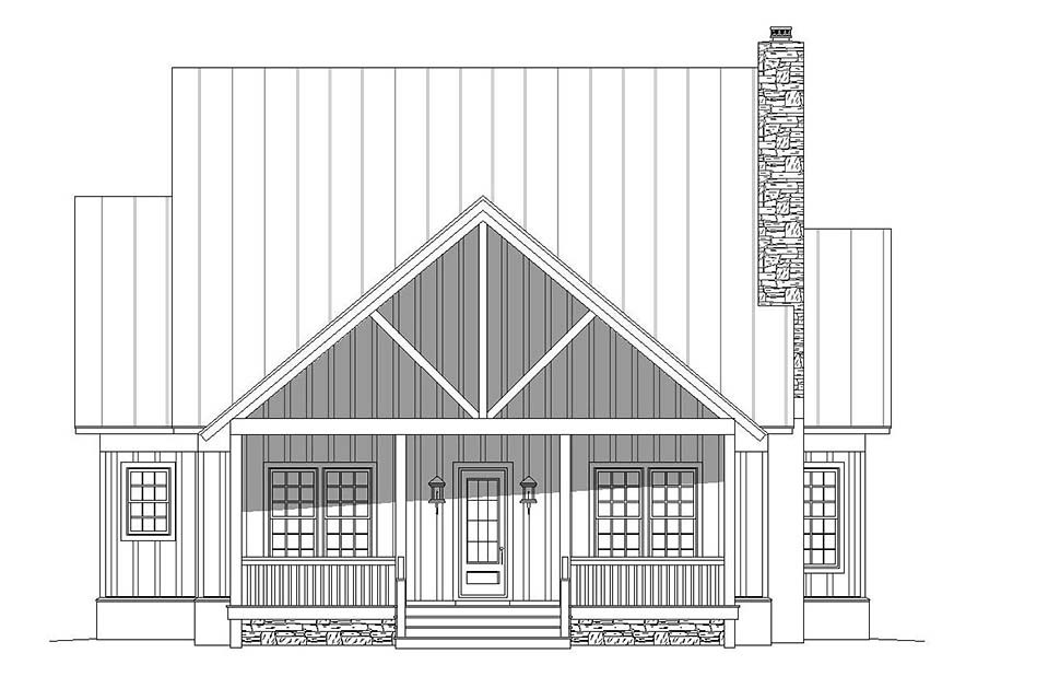 Bungalow, Cottage, Country, Craftsman, Farmhouse, Log, Tudor House Plan 51689 with 3 Beds, 4 Baths Picture 3