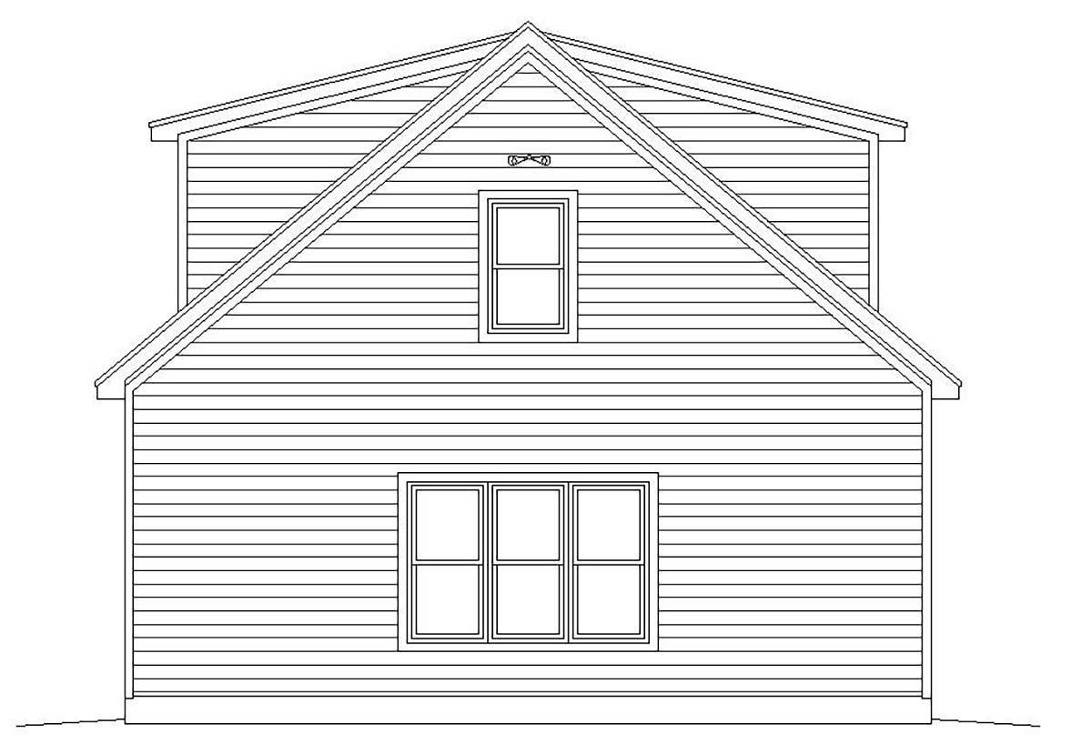 Cape Cod, Coastal, Colonial, Country, Farmhouse, Prairie, Ranch, Saltbox, Traditional 4 Car Garage Plan 51690 Picture 2