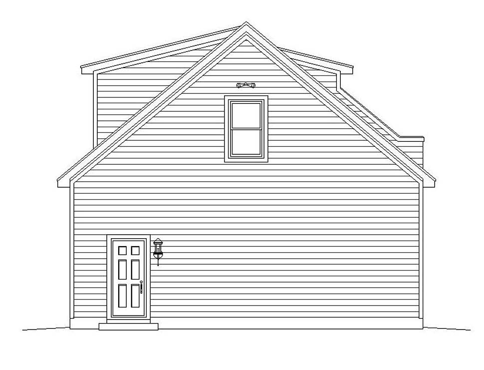 Coastal, Colonial, Country, Farmhouse, Traditional 3 Car Garage Plan 51692 Picture 1