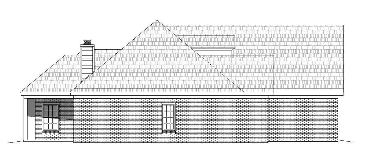 Bungalow, Colonial, Country, Craftsman, European, Farmhouse, French Country, Ranch, Traditional House Plan 51694 with 3 Beds, 3 Baths, 2 Car Garage Picture 2