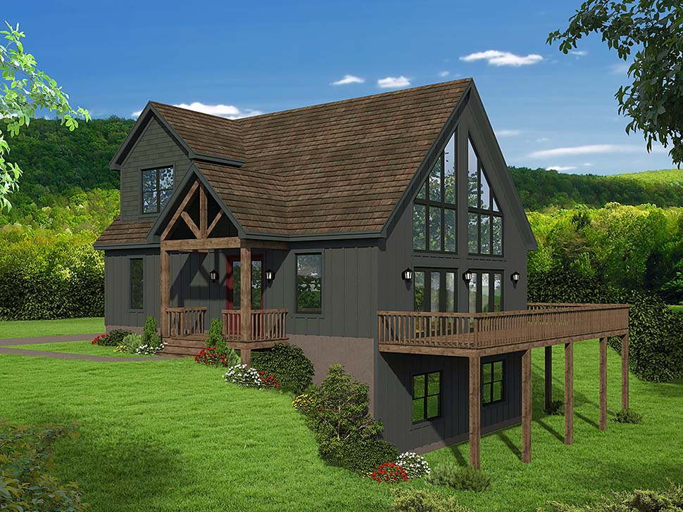 Contemporary, Modern House Plan 51697 with 3 Beds, 3 Baths Elevation
