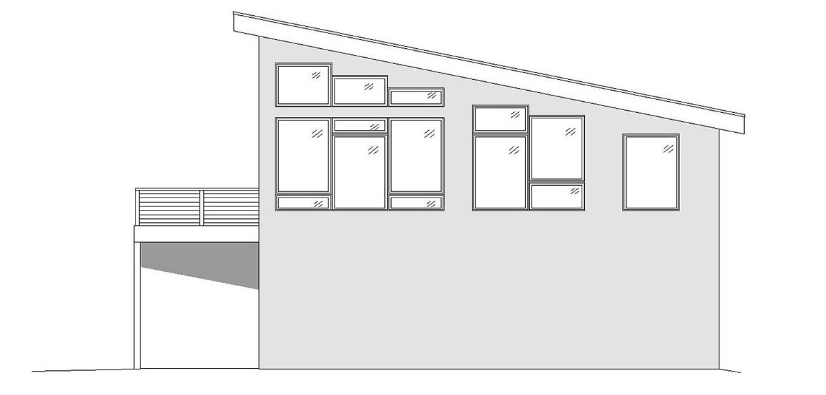 Coastal, Contemporary, Modern Garage-Living Plan 51698 with 1 Beds, 2 Baths, 2 Car Garage Picture 1