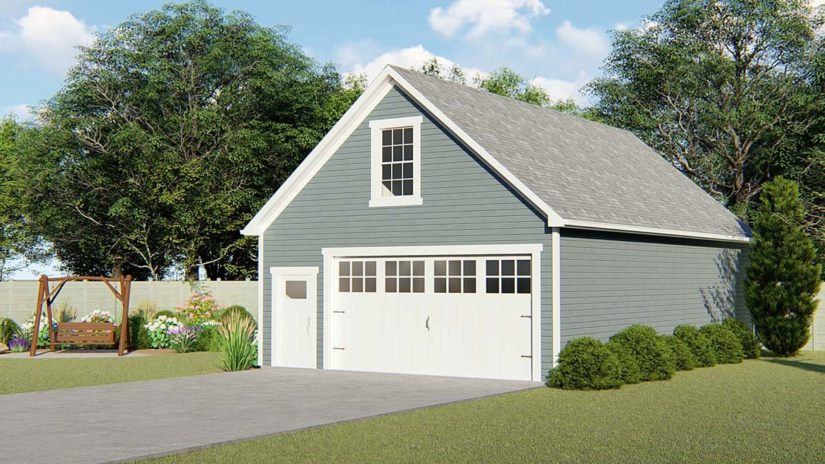 Colonial, Cottage, Country, Craftsman 2 Car Garage Plan 51843 Elevation