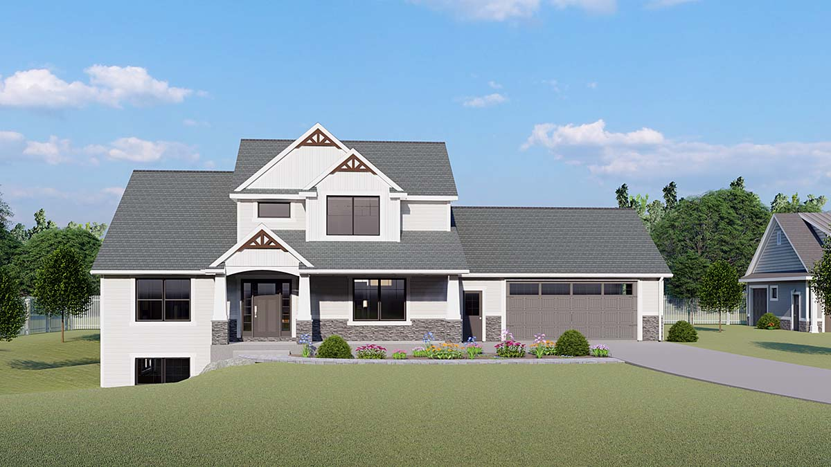 Cottage, Country, Craftsman, Farmhouse House Plan 51856 with 3 Beds, 3 Baths, 2 Car Garage Elevation