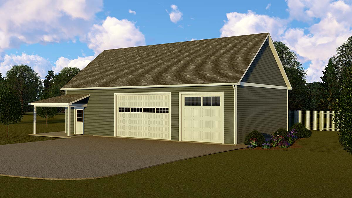 Country 3 Car Garage Apartment Plan 51857 Front Elevation