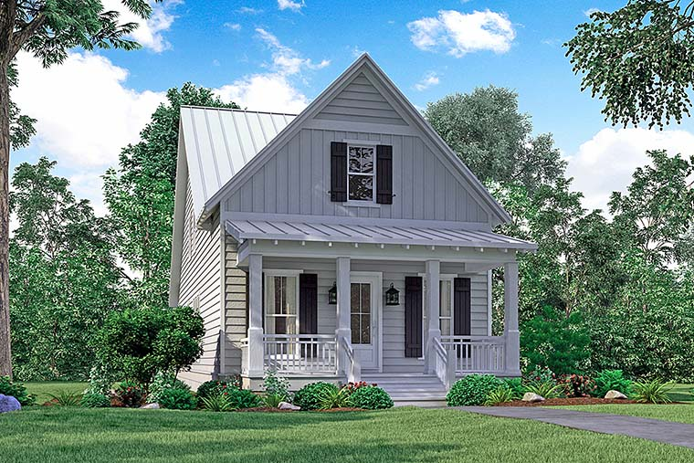Cottage, Country, Southern, Traditional House Plan 51933 with 4 Beds, 3 Baths, 2 Car Garage Elevation