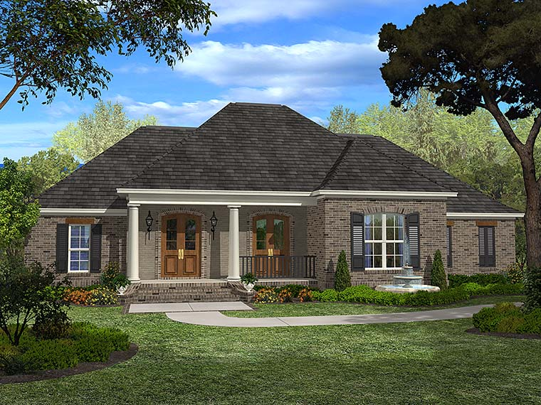 European, French Country House Plan 51946 with 4 Beds, 3 Baths, 2 Car Garage Elevation