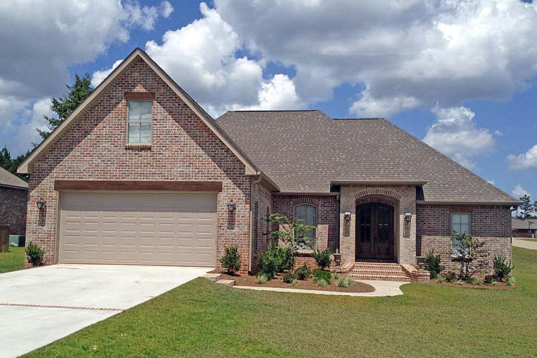 European, French Country, Traditional House Plan 51948 with 4 Beds, 3 Baths, 2 Car Garage Elevation