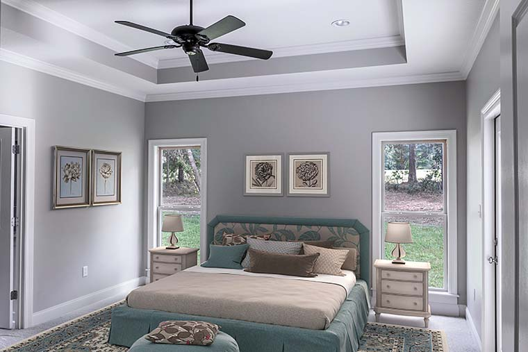 Country, French Country, Traditional House Plan 51966 with 3 Beds, 3 Baths, 2 Car Garage Picture 9