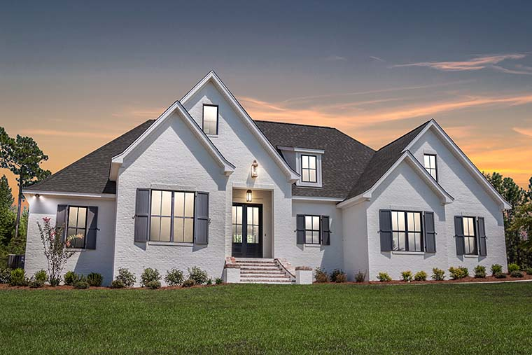 European, French Country Plan with 2404 Sq. Ft., 4 Bedrooms, 3 Bathrooms, 2 Car Garage Picture 5