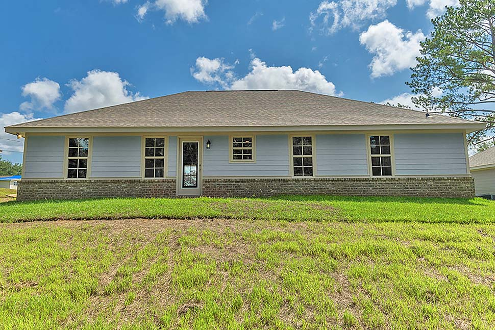 Country, Ranch, Traditional House Plan 51980 with 3 Beds, 2 Baths, 2 Car Garage Rear Elevation