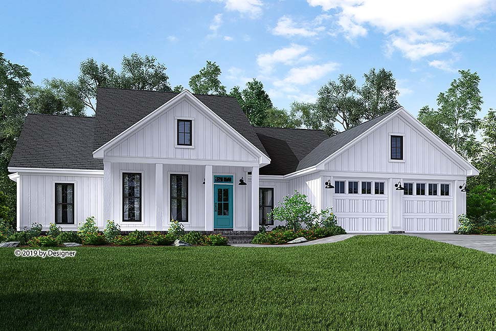 Country, Craftsman, Farmhouse, Southern House Plan 51985 with 3 Beds, 2 Baths, 2 Car Garage Elevation