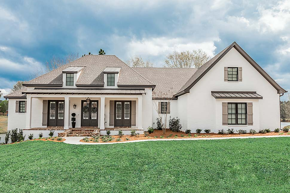 European, French Country, Ranch, Southern House Plan 51989 with 3 Beds, 2 Baths, 3 Car Garage Front Elevation