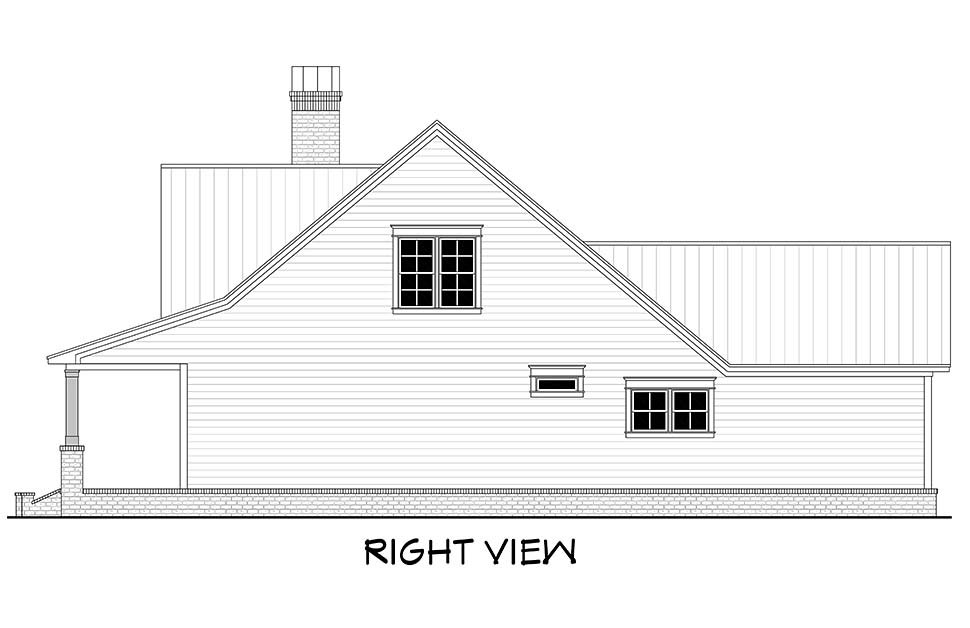 Country, Farmhouse, Traditional House Plan 51994 with 4 Beds, 3 Baths, 2 Car Garage Picture 1