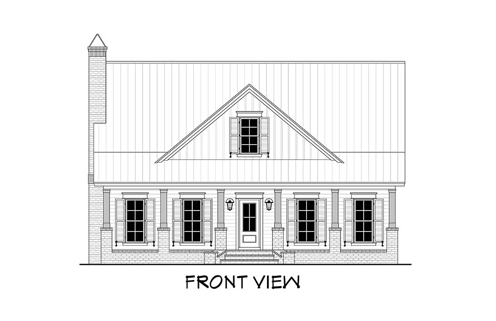 Country, Farmhouse, Traditional House Plan 51994 with 4 Beds, 3 Baths, 2 Car Garage Picture 3