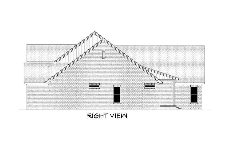 Country, Farmhouse, Traditional House Plan 51995 with 4 Beds, 4 Baths, 2 Car Garage Picture 1