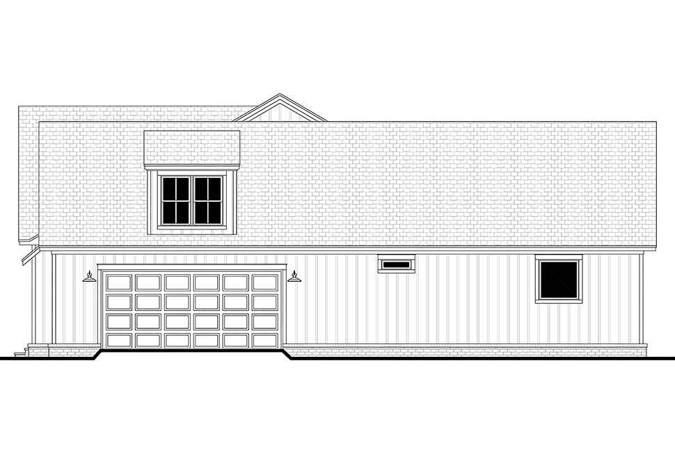 Country, Farmhouse, Southern House Plan 51998 with 4 Beds, 3 Baths, 2 Car Garage Picture 1