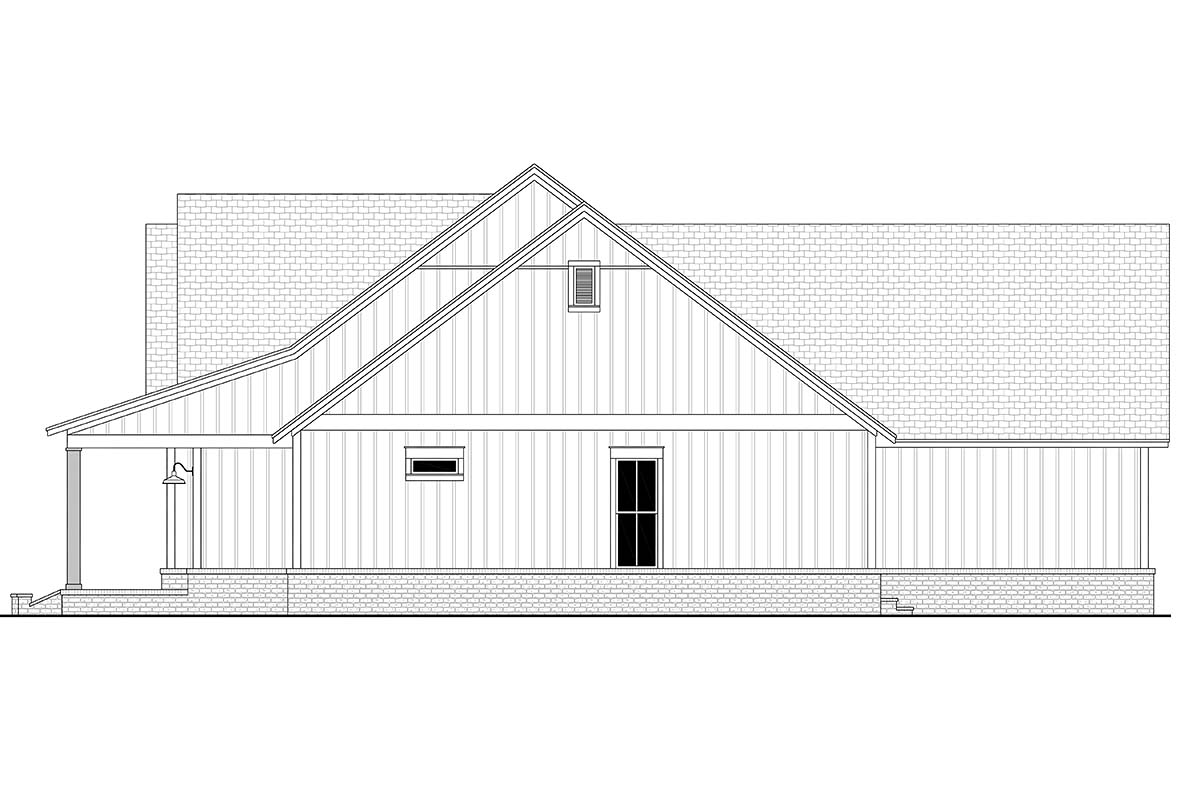 Country, Farmhouse, Southern House Plan 51999 with 4 Beds, 4 Baths, 3 Car Garage Picture 1