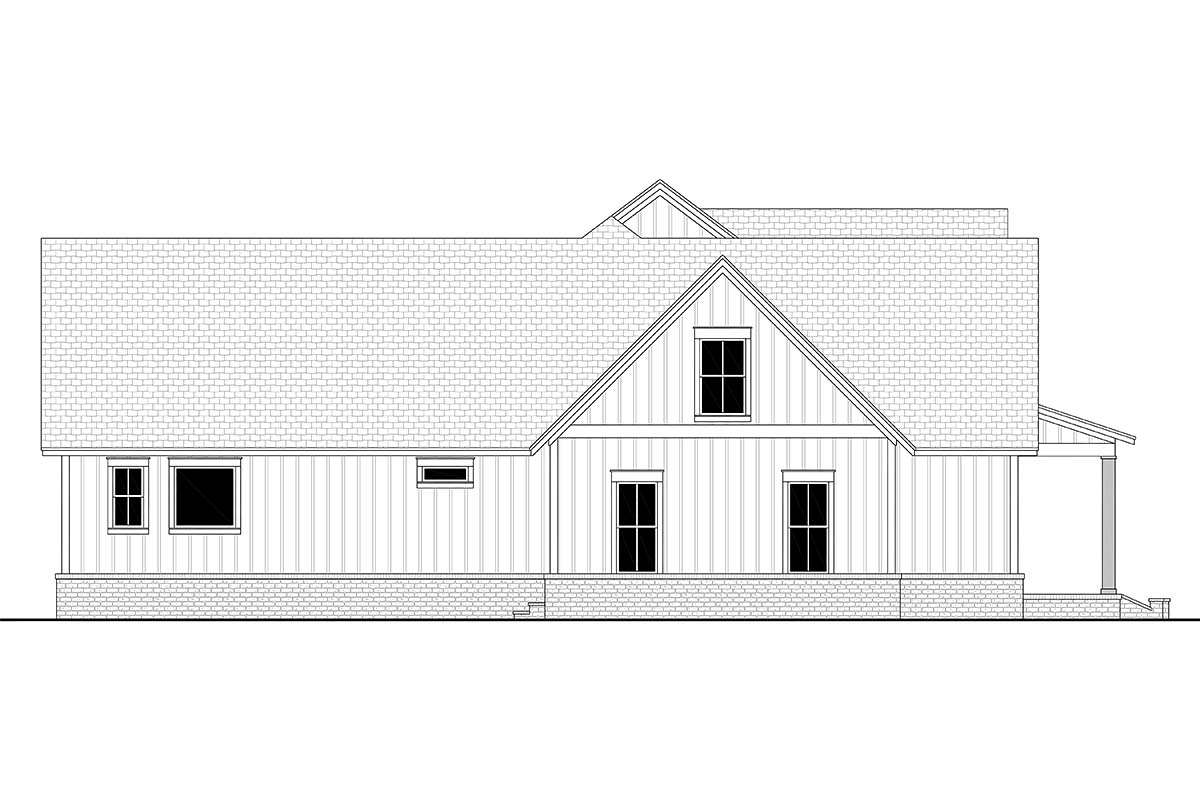 Country, Farmhouse, Southern House Plan 51999 with 4 Beds, 4 Baths, 3 Car Garage Picture 2