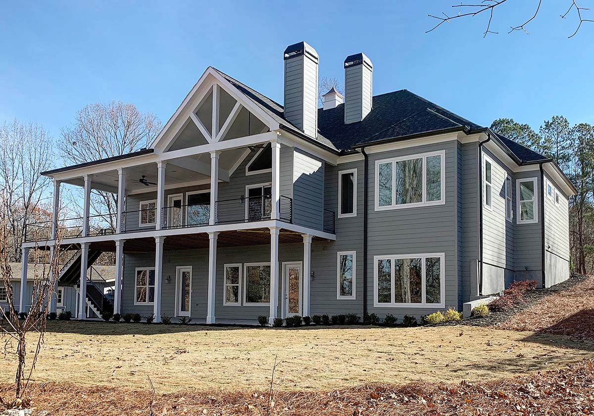 Bungalow, Cottage, Craftsman House Plan 52003 with 3 Beds, 4 Baths, 2 Car Garage Rear Elevation