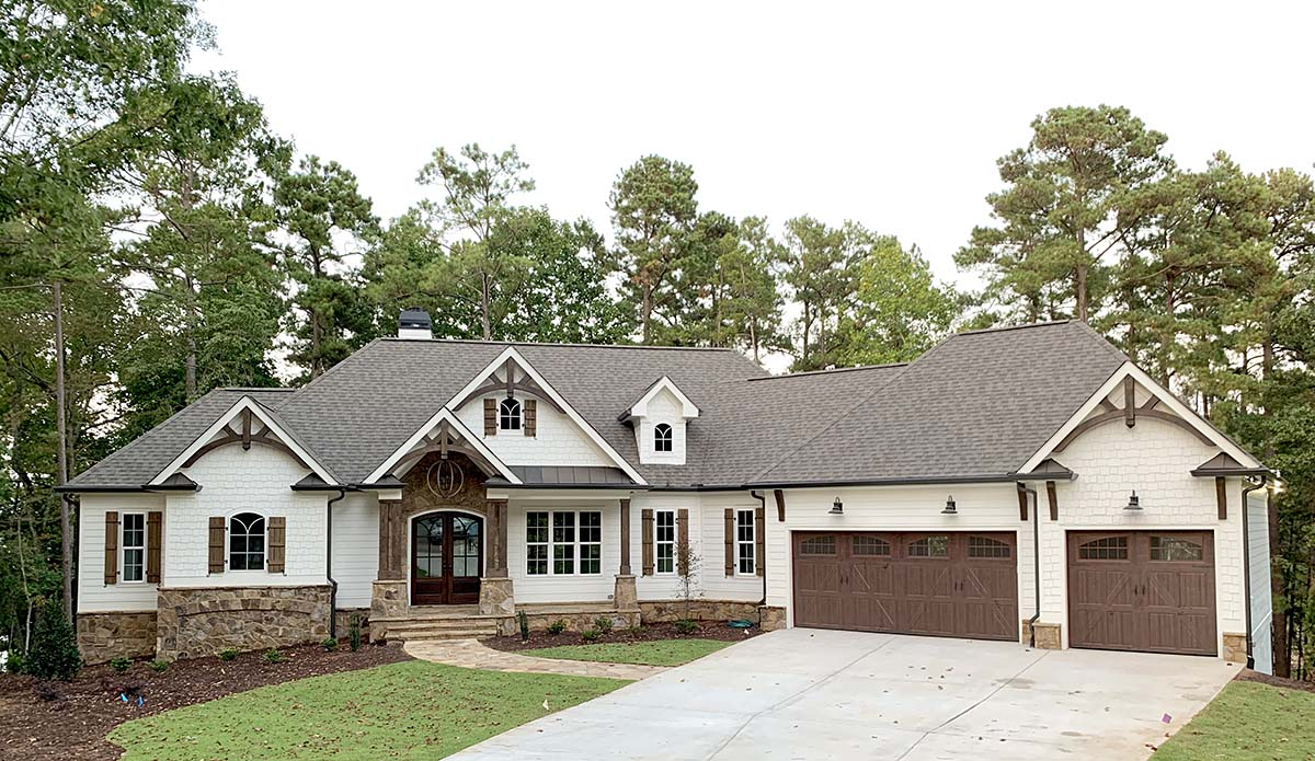 Cottage, Craftsman House Plan 52026 with 4 Beds, 4 Baths, 3 Car Garage Elevation