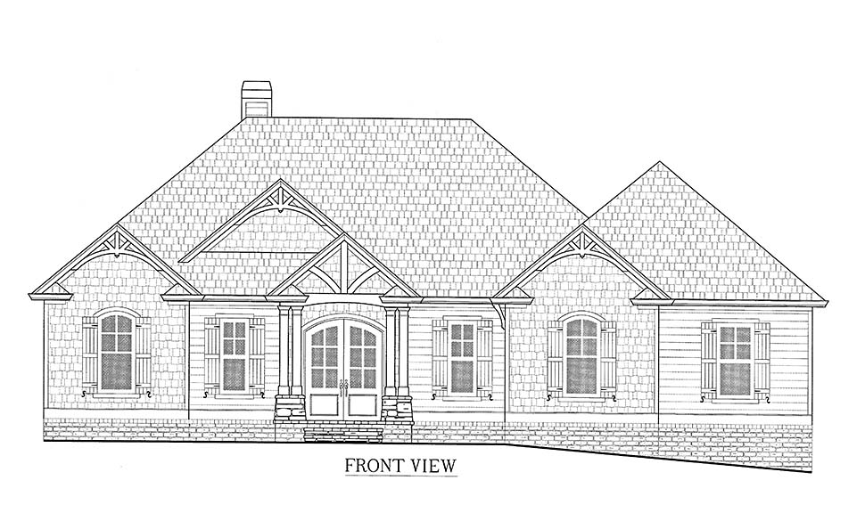 Cottage, Craftsman House Plan 52032 with 3 Beds, 4 Baths, 3 Car Garage Picture 2