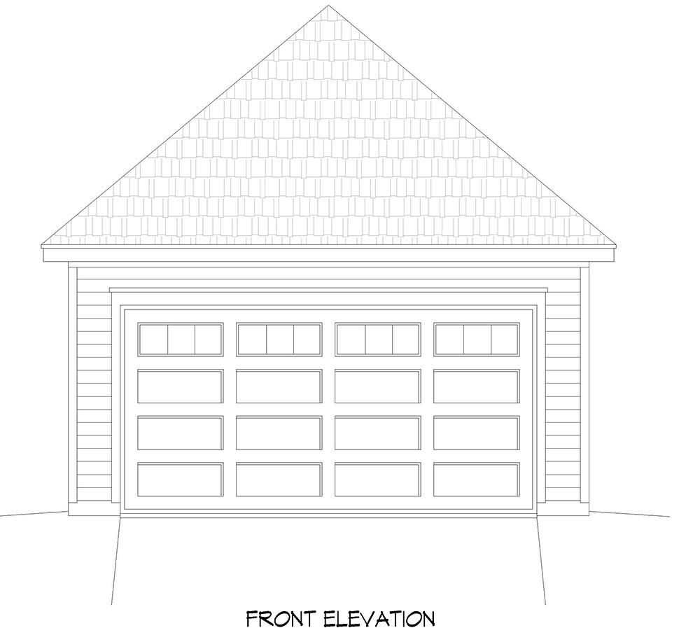 Contemporary 2 Car Garage Plan 52102 Picture 3