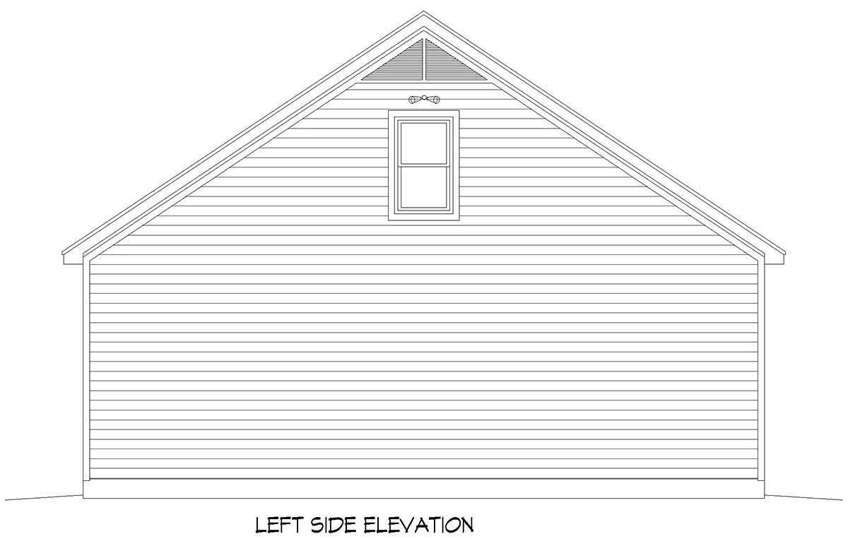 Traditional 3 Car Garage Plan 52106 with 1 Beds, 1 Baths Picture 2