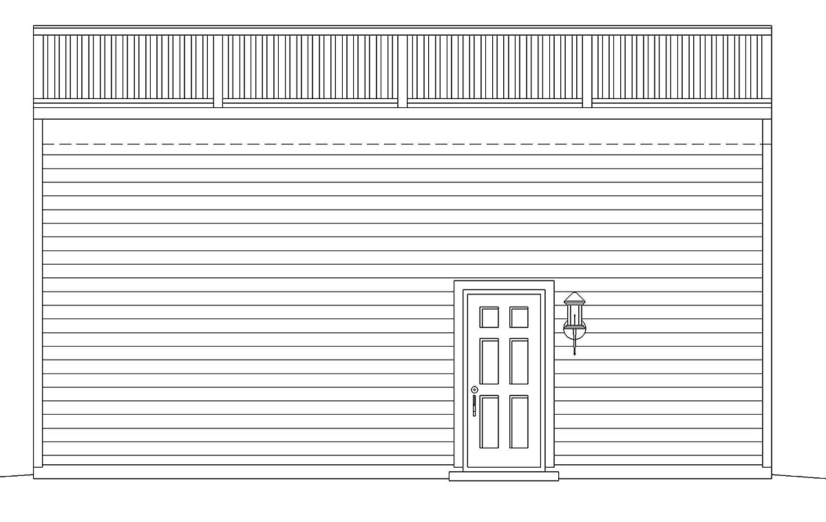 Cape Cod, Saltbox, Traditional 2 Car Garage Plan 52109 Rear Elevation