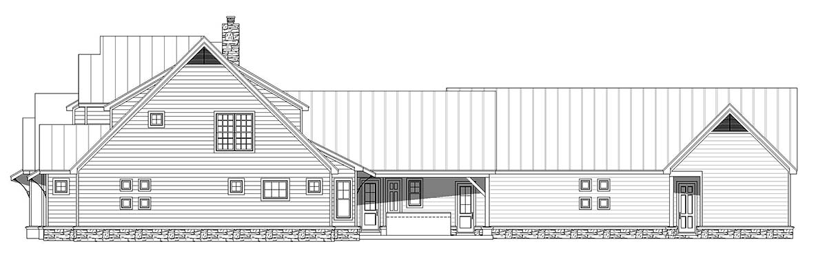 Country, Farmhouse, Traditional House Plan 52111 with 6 Beds, 5 Baths, 4 Car Garage Picture 1