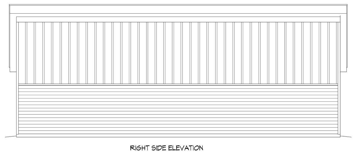 Contemporary, Modern 2 Car Garage Plan 52112, RV Storage Picture 1