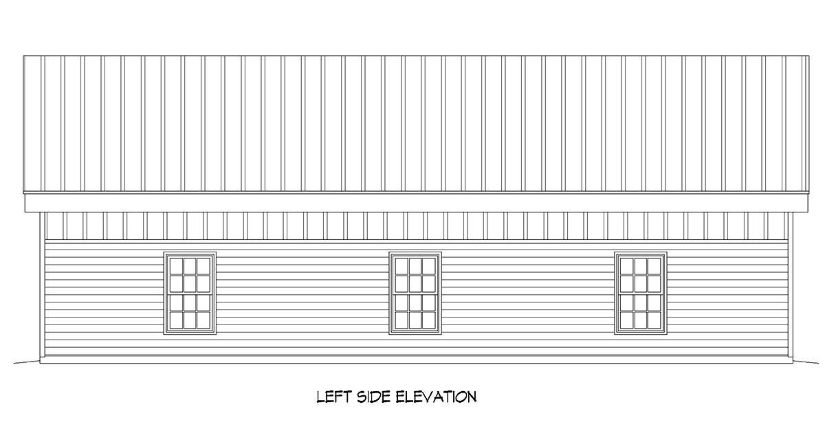 Contemporary, Modern 2 Car Garage Plan 52112, RV Storage Picture 2
