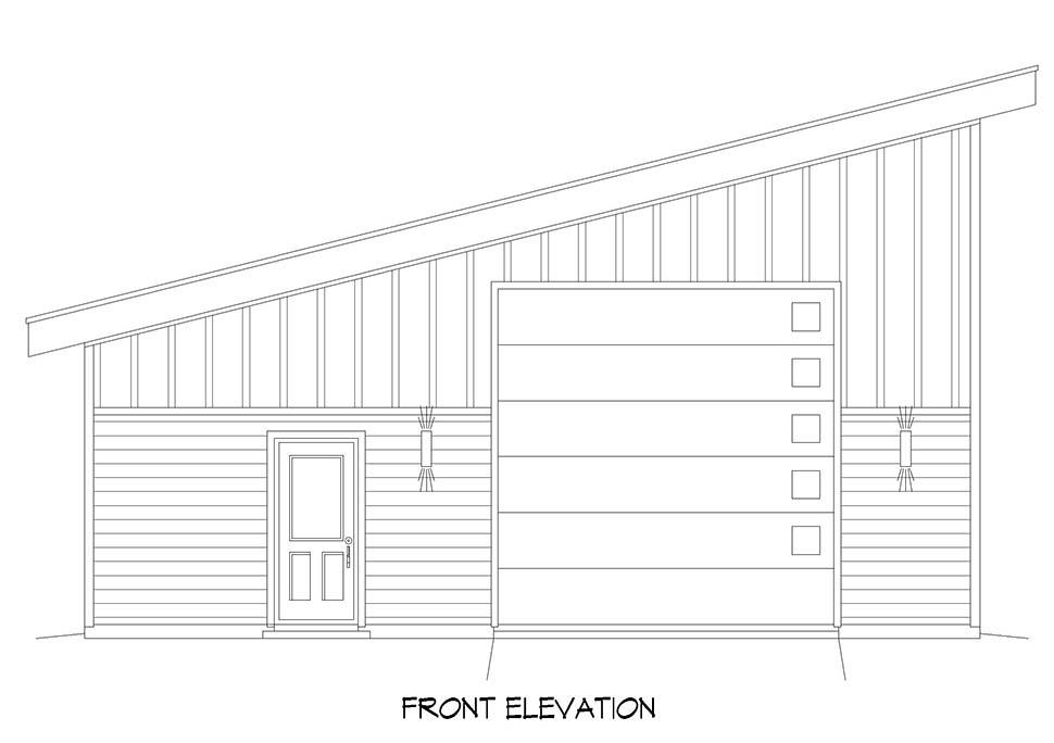 Contemporary, Modern 2 Car Garage Plan 52112, RV Storage Picture 3